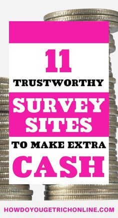 11 Trustworthy Survey Sites to Make Extra Money (Ultimate Guide) Do you want to make money online ta Best Online Survey Sites, Survey Websites, Online Surveys That Pay, Survey Sites That Pay, Surveys For Money, Paid Surveys, Online Jobs, Cash Money, Survey Money
