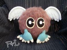 Winged Kuriboh from Yu-Gi-Oh inspired amigurumi