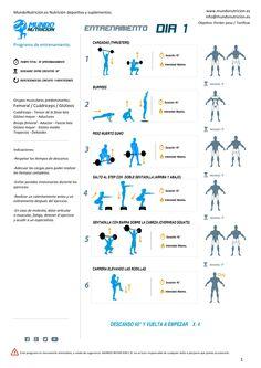 Semana de 5 días de entrenamiento ideal chicas - Mundo Nutrición. Nutrición deportiva y suplementos. Día 1 HIIT de piernas