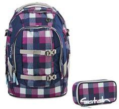 Satch by Ergobag Schulrucksack-Set 2-tlg Berry Carry - Lila 966 berry carry