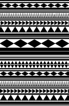 Tribal pattern wallpaper black and white Tribal Patterns, Tribal Prints, Tribal Art, Print Patterns, Art Prints, Tribal Designs, Maori Band, Tribal Pattern Wallpaper, Aztec Wallpaper
