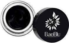BaeBlu Organic Gel Eyeliner Pot, Natural Waterproof Non-Irritating, Create Any Look, Very Black Natural Eyeliner, Sensitive Eyes, Vitis Vinifera, Gel Liner, Organic Makeup, Smoky Eye, Seed Oil, Cruelty Free