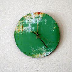Unique Wall Clock, Home Decor, Decor and Housewares, Home and Living, Green Wall Decor, Living Room Clock