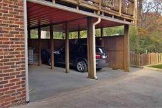 putting a garage under the deck is genius.  #futurerenovation