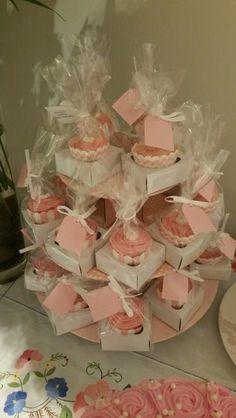 Kitchen tea thank you cupcakes