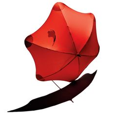 Blunt Umbrella: With its telescoping fiberglass pole and polycarbonate ribs, this umbrella can hold its shape in tropical-storm gusts of up to 70 mph. The rounded tips prevent inadvertent eye-poking. $70.00