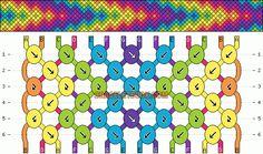 Friendship bracelet pattern 3302 by mikkomix #friendship #bracelet #wristband #craft #handmade #DIY #braceletbook #howto #instructions #pattern #tutorial #doityourself #chevron #diamonds #arrows