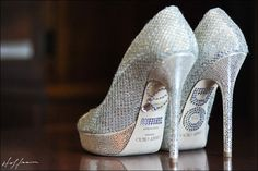 """""""I DO"""" - customize your Jimmy Choo bridal shoes. Blingy bride heels."""