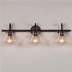 Beaker Glass Bath Light   3 Light