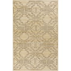 Showcasing a geometric trellis motif, this hand-knotted wool rug anchors your living room or study in eye-catching style. Features: