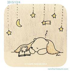 690 読み聞かせてる方が往々にして先に寝てしまうものなのだ A reader often falls in a sleep earlier than a listener.