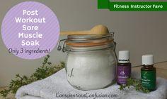 Post Workout Sore Muscle Salt Soak | Conscientious Confusion
