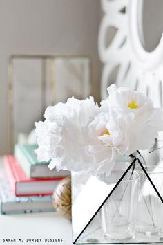 DIY Tissue Paper Peonies Tutorial