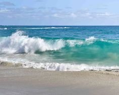 Ocean Photography - Pacific Ocean, Sea, Waves, Blue, Turquoise, Coastal, Nautical, Wall Art, Home Decor, Print
