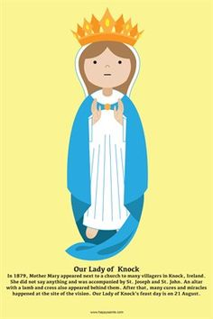 Happy Saints Mother Mary Posters: Happy Saints Our Lady of Knock Poster, $5.00 from MagCloud