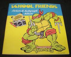 Teenage Mutant Ninja Turtles School Friends Picture & Autograph Album 1990  #MirageStudios