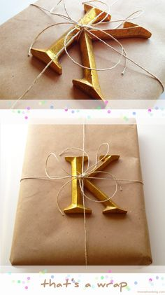 DIY: Gift wrap with personalized embellishments