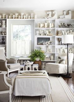 Mix of white pottery and corbels is great.