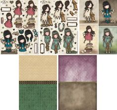 Gorjuss New Heights Pack Contents Santoro London, Holly Hobbie, Printable Quotes, Free Paper, Amigurumi Doll, Journal Cards, Digital Scrapbooking, Free Printables, Decoupage