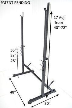Squat-Rack-HD-Crossfit-Power-Weight-Bench-Racks-72-H-600-Cap-3-Safety-Gym-New