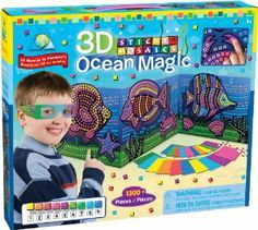 The Orb Factory Sticky Mosaics® 3D Ocean Magic by The Orb Factory. $16.99. Great for play dates and birthday parties. 1300+ self adhering 3D tiles, 1 pair 3D glasses. The award winning line of Sticky Mosaic craft kits will delight all ages and all skill levels. Complete 3 3D Ocean  designs with all the ease of Sticky Mosaics. From the Manufacturer                Sticky Mosaics come alive with 3D Ocean Magic.  Follow the color key and complete 3 3D Ocean designs.  Extra tiles inv...