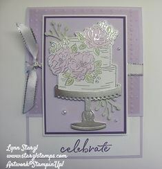 This card uses the FREE Sale a Bration Happy Birthday to You stamp set, with the coordinating Birthday Dies, and the upcoming FREE So Very Vellum specialty designer series paper. Happpy Birthday, Happy Birthday Mom, Birthday Cake Card, Homemade Birthday Cards, Wedding Anniversary Cards, Wedding Cards, Paper Cards, Cards Diy, Engagement Cards