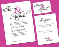Touch of Color Wedding Invitation Printable by YellowBrickGraphics, $35.00