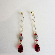 A beautiful and unique earrings made of Swarovski by LaughingBudha, $35.00