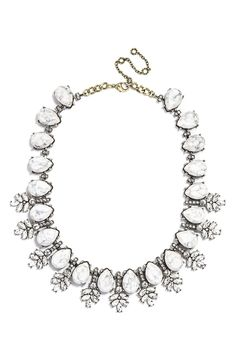 Dressing up a LBD with this gorgeous BaubleBar crystal collar statement necklace.