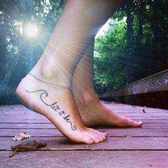 tatto, foot, let it be, boho, beach style