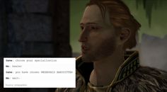 bubonickitten: Dragon Age II + text posts: Anders me: i'll do...