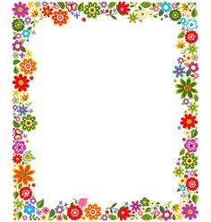 Floral border frame background vector 1187522 - by paul_june on VectorStock® Borders For Paper, Borders And Frames, Printable Border, Boarder Designs, Cute Frames, School Frame, Frame Background, Paper Frames, Stationery Paper