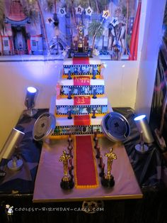 Awesome Tiered Hollywood Theme Cake... Coolest Birthday Cake Ideas