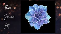 Violet Blue Green Succulent - Super Time Lapse Painting Videos, Blue Green, Succulents, Make It Yourself, Tv, Artwork, Flowers, Instagram, Work Of Art