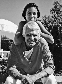 Cary Grant with his daughter, Jennifer