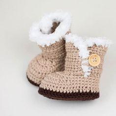 Day 39 Ugg Inspired Crochet Baby Booties hellip