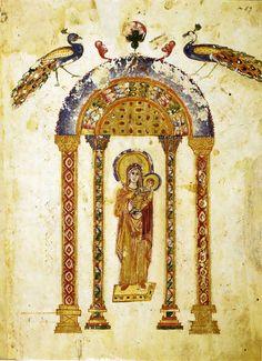 Rabbula Gospels. 6th century, Syria. 33.5 x 26.5 cm. Medicean-Laurentian Library (Florence, Italy).