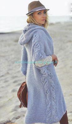 ВСЕ СВЯЗАНО. ROSOMAHA.: Жакет-пальто с капюшоном для первой осенней прохла...