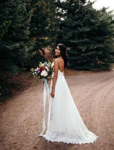 Tendance Robe du mariée 2017/2018  lace edged dress