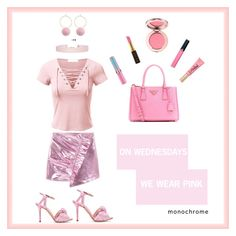 On Wednesdays We Wear Pink by sarahannisaa on Polyvore featuring polyvore, fashion, style, MANGO, Charlotte Olympia, Prada, Humble Chic, Too Faced Cosmetics, Armani Beauty, Kevyn Aucoin and clothing