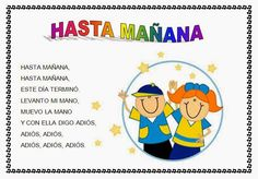 CANTORES INFANTILES: HASTA MAÑANA Rhyming Preschool, Preschool Spanish, Spanish Lessons For Kids, Teaching Spanish, Dual Language Classroom, Bilingual Classroom, Spanish Classroom, Kindergarten Classroom, Counting Rhymes