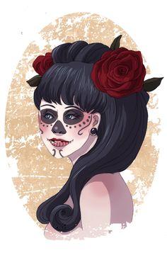 Skulls and Roses by Sirothello.deviantart.com on @DeviantArt