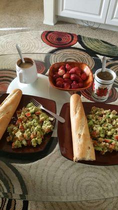 Avocado salad for breakfast yum yum