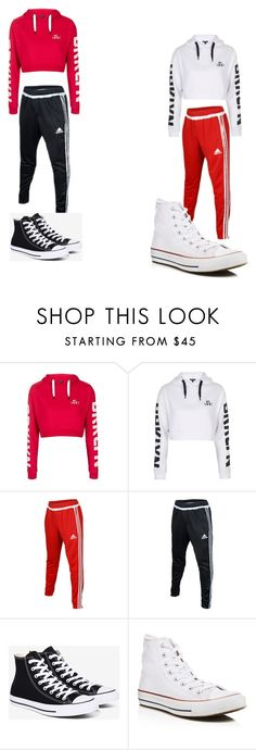 """""""Twinin"""" by babyana1 on Polyvore featuring Topshop, adidas and Converse"""
