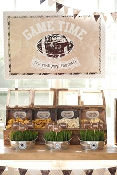 Anders Ruff Custom Designs, LLC: A Vintage Football Party – Packers Football Viewing Party Football Banquet, Football Themes, Football Parties, Football Stuff, Football Apps, Super Bowl Party, Football Birthday, Sports Birthday, Office Birthday