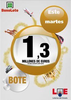 Bonoloto, Bote 1.300.000 €, Martes 09/04/2013