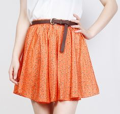 Fashion 4 Colors Pleated Floral Chiffon Women Ladies Cute Mini Skirt Belt Include Flower Printed Pattern Pleated Short W3830