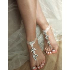 Rhinestone Barefoot Beach Wedding Barefoot Sandals   Barefoot Sandals... ($49) ❤ liked on Polyvore featuring shoes, sandals, barefoot sandals, black, women's shoes, sexy shoes, bride shoes, black shoes, bridal shoes and rhinestone sandals
