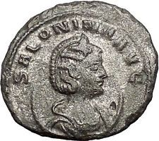 Salonina Valerian I daughter in law Ancient Roman Coin Venus Cult Rare i55380