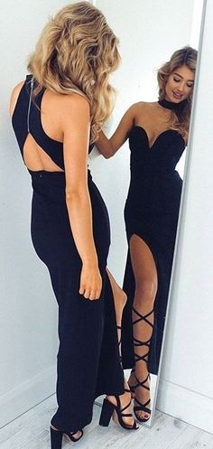 Maxi Black Dress                                                                             Source